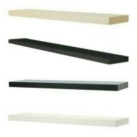 IKEA LACK Rak dinding, hitam/hitam cokelat/putih/kesan kayu, 110x26 cm