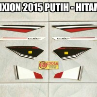 Striping Vixion 2015 Putih - Hitam