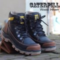 SEPATU CATERPILLAR BOOTS / BOOT SAFETY WOOD HITAM DOP