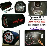 Speaker mp3 Advance 8in T103