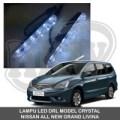 LAMPU LED DRL MOBIL MODEL CRYSTAL NISSAN GRAND ALL NEW LIVINA