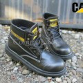 Safety Boots Caterpillar Sintetis Hitam - Sepatu Boots Cats Caterpilla