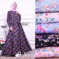 Long Dress Baju Wanita Gamis Maxi Dress Muslim SAKURA