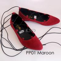 Sepatu Wanita / Cewek Pp01 Tali Flatshoes Balerina Ballerina Terlaris