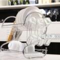 Rak Piring Gelas Stainless Steel Kitchen Set Minimalis 2 Tingkat