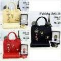tas paket 3in1 / tas y zara / paketan jam tangan / dompet wanita