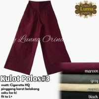 Celana Panjang Wanita kulot Polos #3