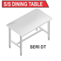 DT-90 SS DINING TABLE / MEJA MAKAN STAINLESS STEEL