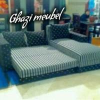 sofa L bed reclining minimalis