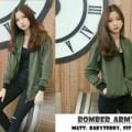 jaket army bomber wanita jacket outer hijau polos basic jokowi zara