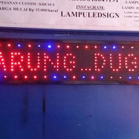 Tulisan Lampu Led Sign display WARUNG DUGEM - LIKE RUNNING TEXT