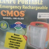 Lampu Emergency / Emergency Lamp LED Rechargeable CMOS HK 6