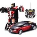 Mainan Anak - Remote Control RC Transform Racing Robot Bugatti Veyron