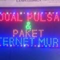 Tulisan Lampu Led Sign display JUAL PULSA & PAKET INTERNET MURAH HP