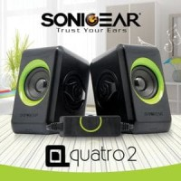 Speaker Portable Mini Komputer PC Laptop SONICGEAR Quatro 2 Mu Diskon