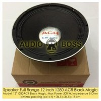 Speaker Full Range 12 inch 1280 ACR Black Magic Diskon