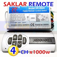 HQ Saklar Remote 4x 1000w Wireless Switch AC 220v 4 Channel RF Remot