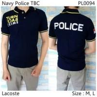 [MS] Baju Kaos Polo Berkerah Navy Police Turn Back Crime Model Terbaru