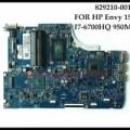 829210-001 HP Envy 15-Q Laptop Motherboard I7-6700HQ HM170 N16P-GT-A2