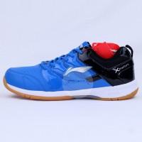 Sepatu Badminton Li-Ning / LiNing AYTN062 Smash Blue Black