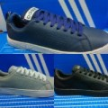 Sepatu Adidas Neo Advantec Import Blue Navy Biru Dongker Sneakers