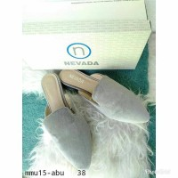 Promo Sepatu Sendal Nevada 38 Abu Cantik