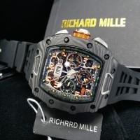 Jam Tangan Richard Mille RM 011-03 Carbon Black Swiss Clone 1:1