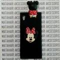 LIMITTED Case Sony Xperia Z2 Black Matte Intip Boneka Doll 3D Minnie M