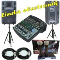 Paket Speaker Aktif ELECTRO YOUNG EY 200A Dan Mixer Soundcraft 8/4
