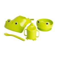 IKEA MATA Set makan 4 unit, hijau