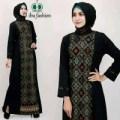 NEW BAJU BATIK// Gamis dress bahan balotelly kombinasi batik tenun