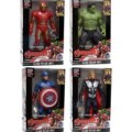 Mainan Anak Robot Avengers 2 Isi 4 Captain Amerika Hulk Thor Iron Man