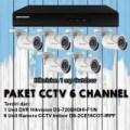 Paket CCTV HIKVISION 6 KAMERA Outdoor 1 Megapixel / 720p