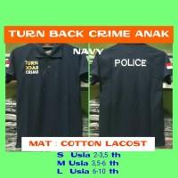 Kaos polo turn back crime anak POLISI - Navy, M
