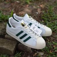 Sepatu Adidas Superstar 80S White Green Original