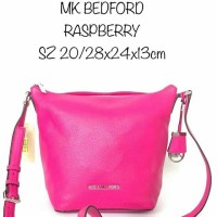 Tas Michael Kors original - Mk bedford crossbody raspberry in