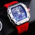 Jual Jam Tangan Pria Richard Mille RM 011-03 Silver Red Rubb Diskon