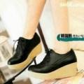 wedges 75 hitam sepatu boot hak tinggi cantik fashion wanita murah