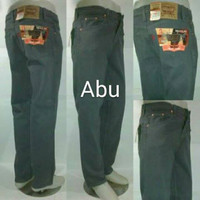 celana levis 505 warna ABU ABU jeans reguler fit model standard