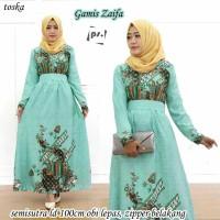 Dress Batik Solo. Gamis Batik Semisutera Zaifa Series