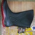 Ap Boots Moto 1 Sepatu Boot Biker Karet Merah Hitam Tinggi 1 2 Betis