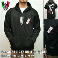 jaket pria sweater Bloods- jaket Bloods hoody - jacket black ori 2