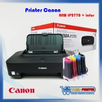 Printer Canon iP2770 Baru infus + Cartridge Recycle PG810 CL811