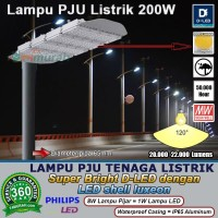 PJU 200W Super Bright D LED Philips 3030 Luxeon leds Lampu Lapangan