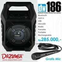 Sale! Speaker Aktif Portable Bluetooth Karaoke - Radio And Usb Dazumba