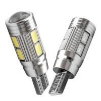 Lampu LED Mobil Motor Senja T10 CANBUS 5630 5730 10 Mata/SMD PROYEKTOR