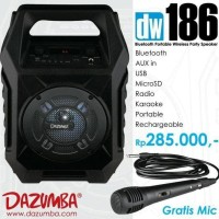 Promo Speaker Aktif Portable Bluetooth Karaoke And Radio Dazumba Dw186