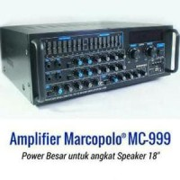 Amplifier Marcopolo mc-999 buat speaker 12/15/18 inch Berkualitas