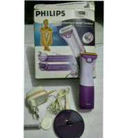 Alat Cukur bulu kaki wanita Philips Lady shape body contour preloved