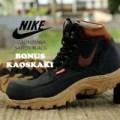 sepatu boots pria nike california safety black
